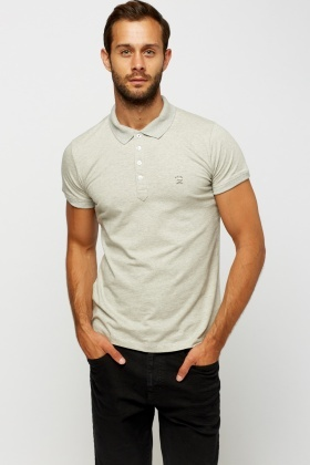Diesel Mens Grey Polo