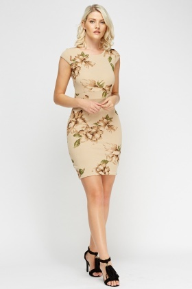 Floral Cap Sleeve Dress