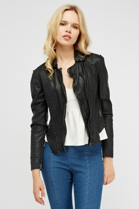Muubaa Marieta Laced Leather Jacket