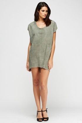 Muubaa Shelby T-Shirt Suede Dress