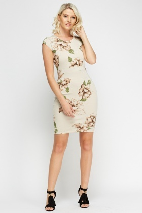 Printed Cap Sleeve Dress
