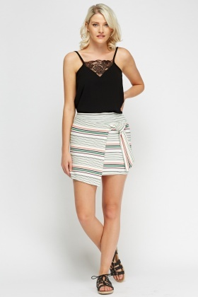Stripe Wrapped Skirt