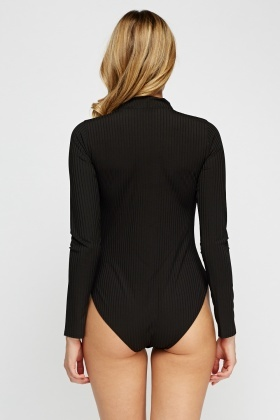 Choker Ribbed Bodysuit