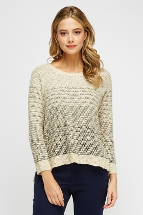Speckled Knitted Jumper
