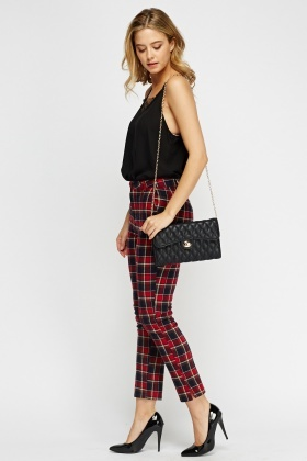 Tartan Slim Fit Trousers