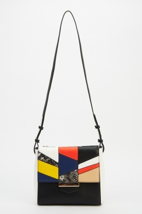 LYDC London Patched Crossbody Bag