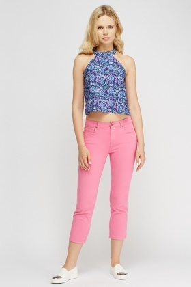 Straight Ankle Cropped Jeans