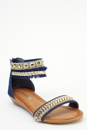 Chain Embellished Sandals