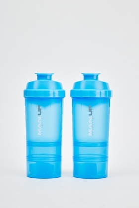Pack Of 2 Blue Protein Shaker Bottles