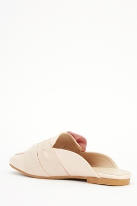 Suedette Knot Slip On Shoes