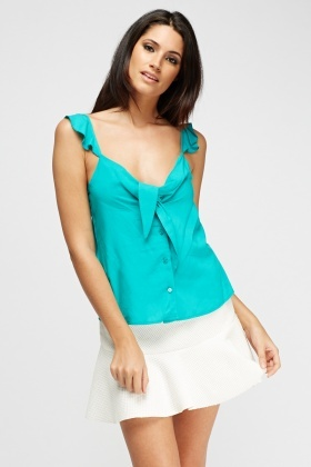 Flared Green Top