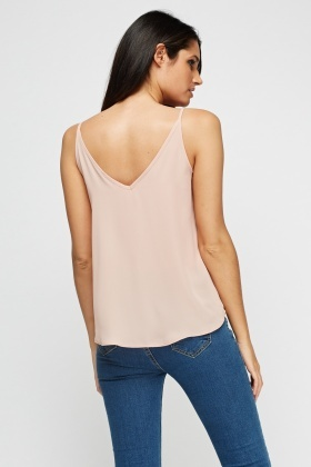 Lace Insert Trim Cami Top