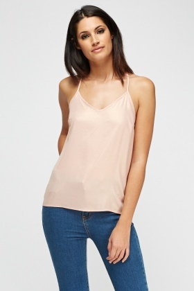Pink Casual Cami Top