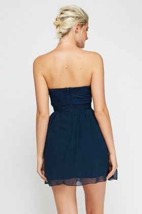Bandeau Sweetheart Mini Dress