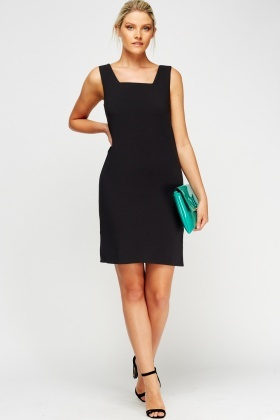Black Slip On Dress