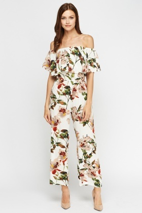 Aikha Flared Off Shoulder Jumpsuit