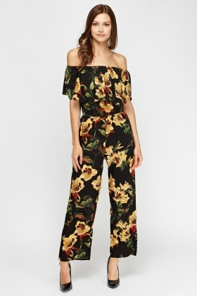 Aikha Off Shoulder Floral Jumpsuit