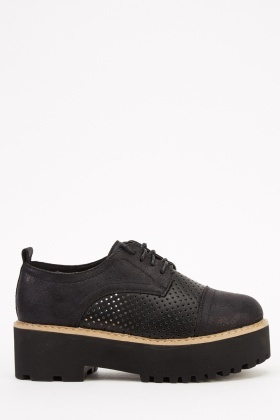 Chunky Lace Up Brogue Shoes