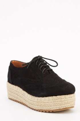 Flatform Espadrille Shoes