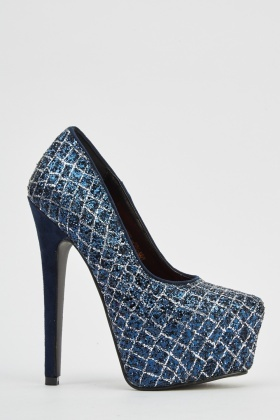 Glittered Platformed High Heels