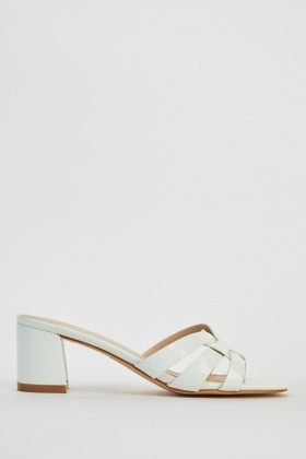 Low Heel PVC Slide Sandals