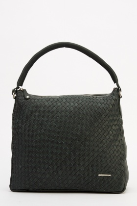 Marco Venezia Leather Calina Basket Weave Bag