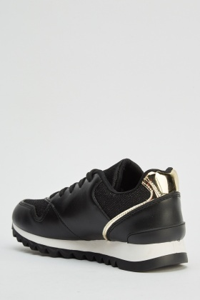 Metallic Insert Low Top Trainers