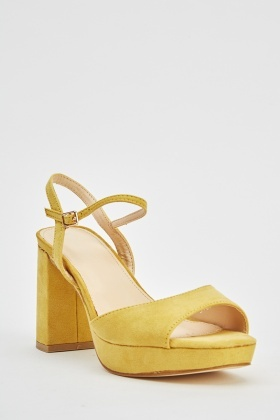 Suedette Yellow Sandals