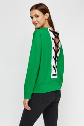Lace Up Back Jumper