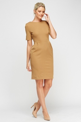 Pleated Waist Midi Dress