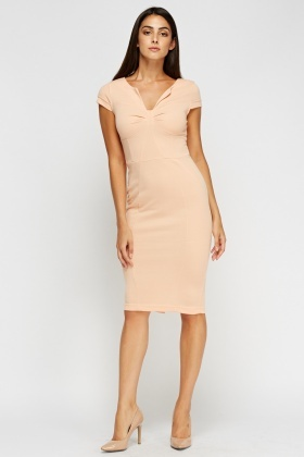 Cap Sleeve Midi Dress