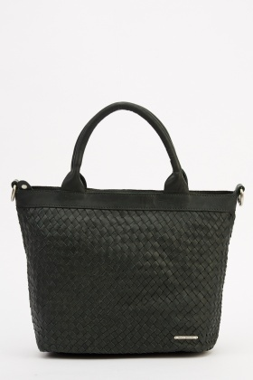 Marco Venezia Leather Eden Basket Weave Handbag
