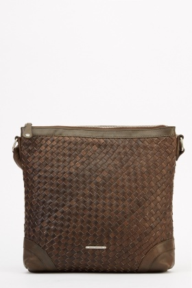 Marco Venezia Leather Esther Basket Weave Crossbody Bag