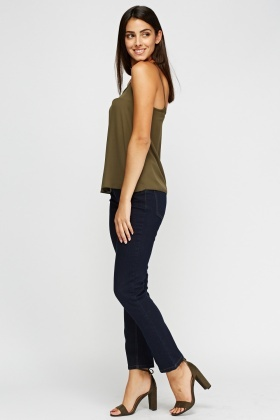 Straight Leg Navy Casual Jeans