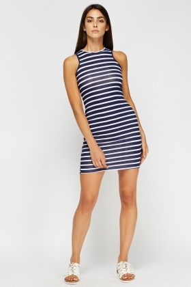 Striped Basic Bodycon Dress