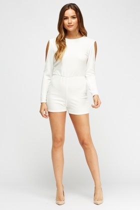 Cold Shoulder Casual Playsuit