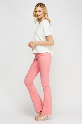 Lacoste Pink Flare Hem Jeans