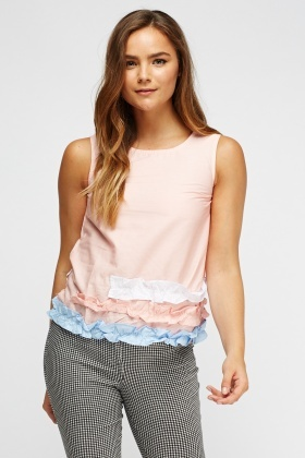 Multi Ruched Sleeveless Top