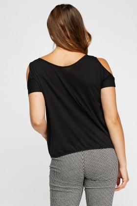 Pack Of 3 Cut Out Shoulder Tops