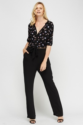 Butterfly Print Bodice Jumpsuit