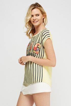 Contrast Printed Top