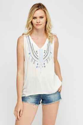 Crochet Embroidered Top