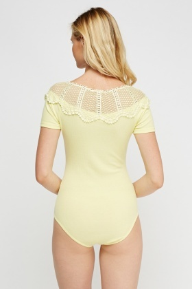 Crochet Ribbed Bodysuit