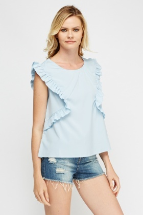 Frilled Dip Hem Top