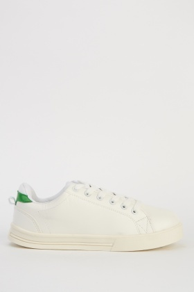 Contrast White Trainers