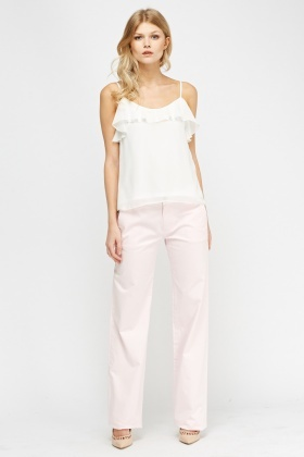 Lacoste Rose Wide Leg Trousers