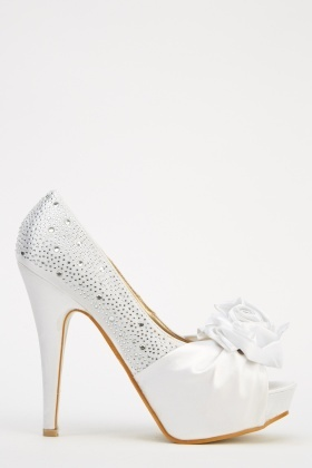 LYDC London 3D Flower High Heels