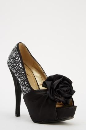 2c235d925d7 3D Flower High Heels