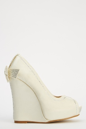 LYDC London Bow Detailed Wedge Heels
