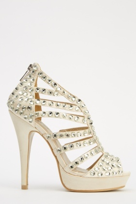 LYDC London Strappy Embellished High Heels
